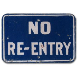 no reentry sign
