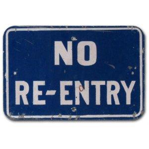 no reentry sign